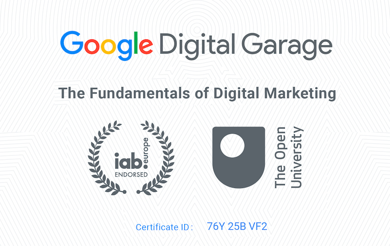 Google Marketing Certification