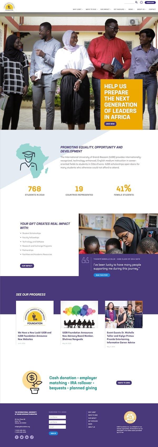 IUGB Foundation WordPress Website