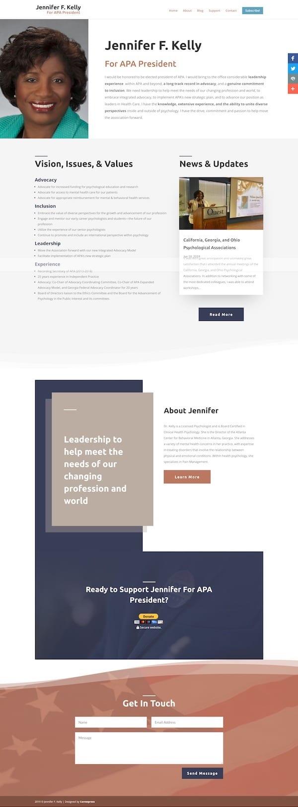 Jennifer F. Kelly WordPress Website